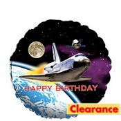Foil Space Odyssey Birthday Balloon 18in