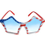 Patriotic Star Glasses 6 1/2in