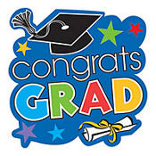 Congrats Grad Colorful Graduation Cutout 15in