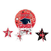 Red Congrats Grad Graduation Balloon Centerpiece 5pc