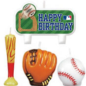 Major League Baseball Molded Cake Candles 4ct