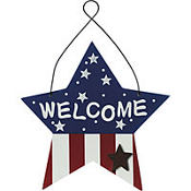 Wooden Star Welcome Sign 8in