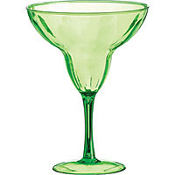 Green Plastic Margarita Glass 9oz