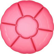 Bright Pink Chip and Dip Tray 16in