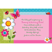 Garden Girl Custom Invitation