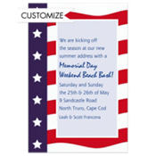 All American Custom Patriotic Invitation