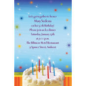 Sparkle Wishes Happy Birthday Custom Invitation