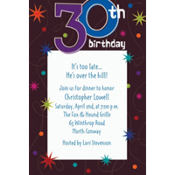The Party Continues 30th Birthday Custom Invitation