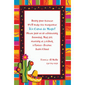 Fiesta Fun Custom Invitation