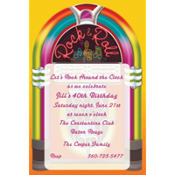 Rock-N-Roll Custom Invitation