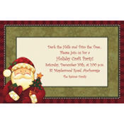 Cozy Santa Custom Invitation