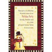 Cozy Snowman Custom Invitation