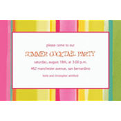 Pink Sunny Stripe Custom Invitation