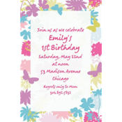 Spring Silhouettes Custom Invitation