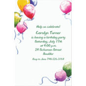 Balloons Custom Invitation