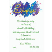 Surprise! Custom Invitation