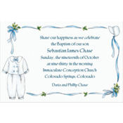 Boy's Christening Outfit Custom Invitation