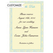 Formal Save-the-Date Custom Invitation
