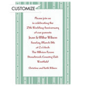 Seafoam Frank Lloyd Stripe Custom Invitation