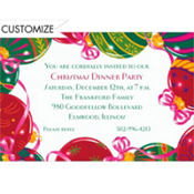 Christmas Ornaments Custom Invitation