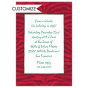 Zebra Holiday Custom Invitation