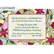 Pop Art Christmas Custom Invitation