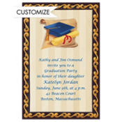 Blue Grad Portrait Custom Graduation Invitation