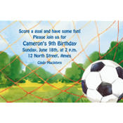 Soccer Net Custom Invitation