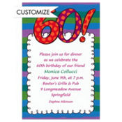 Big 60 Border Custom Invitation