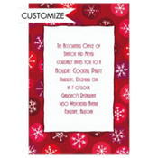 Retro Snowflakes Custom Invitation