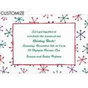 Festive Retro Stars Custom Invitation