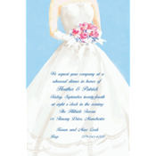 Serene Bride with Bouquet Custom Invitation
