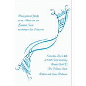 Tossed Tallis Masculine Custom Invitation