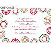 Christmas Circles Custom Invitation