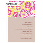 Big Pink Bloom Pattern Custom Invitation