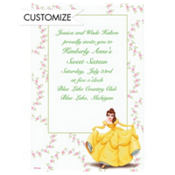 Belle and Floral Garlands Custom Invitation