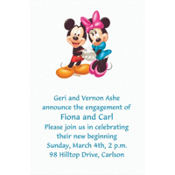 Mickey and Minnie Custom Invitation