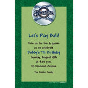 Milwaukee Brewers Custom Invitation