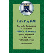 Kansas City Royals Custom Invitation