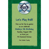 Tampa Bay Rays Custom Invitation