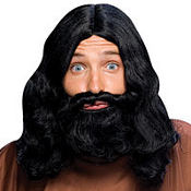 Black Biblical Wig & Beard Set