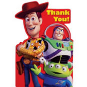 Red Toy Story Thank You Notes 8ct