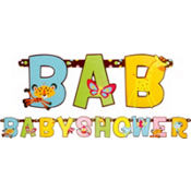 Fisher Price Baby Shower Letter Banner 7 1/2ft