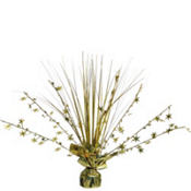 Gold Foil Spray Centerpiece 12in