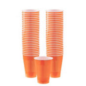 Orange Plastic Cups 50ct