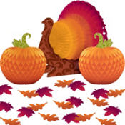 Thanksgiving Harvest Table Decorating Kit 15pc