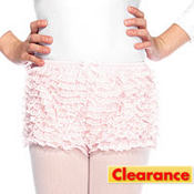 Child Pink Ruffled Shorts