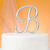 Monogram B Wedding Cake Topper