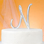Monogram N Wedding Cake Topper