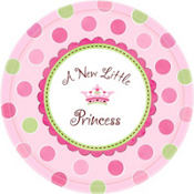 Little Princess Baby Shower Dinner Plates 8ct
